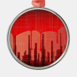 Ornamento De Metal Grunge da cidade do sangue