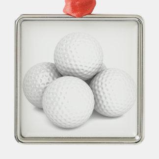 Ornamento De Metal Grupo de bolas de golfe