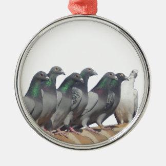 Ornamento De Metal Grupo de palomas mensajeras