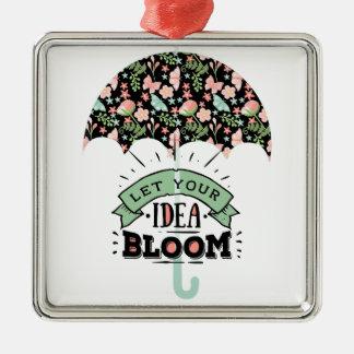 Ornamento De Metal Guarda-chuva da flor da ideia