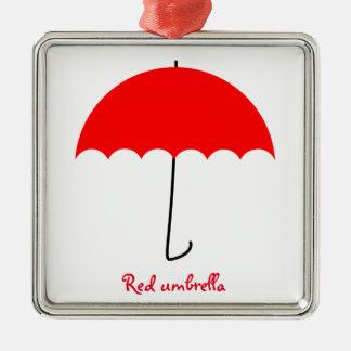 Ornamento De Metal Guarda-chuva vermelho
