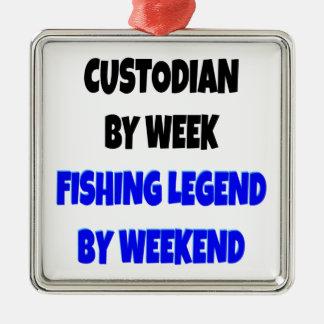 Ornamento De Metal Guarda da legenda da pesca