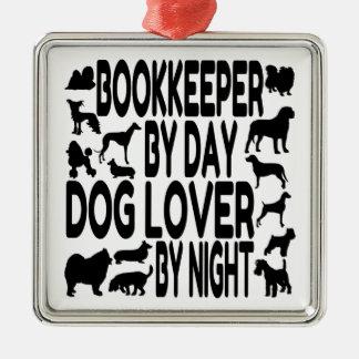 Ornamento De Metal Guarda-livros do amante do cão