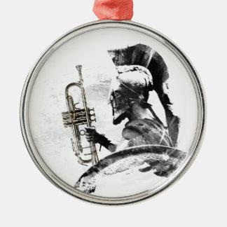 Ornamento De Metal Guerreiro da trombeta