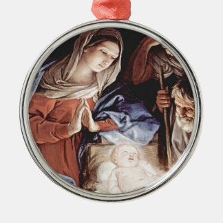 Ornamento De Metal Guido_Reni_Birth do cristo