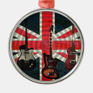 Ornamento De Metal Guitarra elétrica do rolo britânico da rocha da