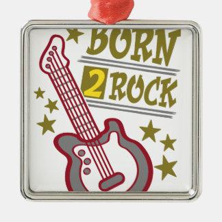 Ornamento De Metal Guitarra nascida da rocha, design do guitarrista