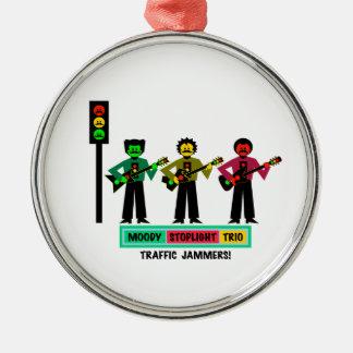Ornamento De Metal Guitarristas temperamentais 2 do Mustachio do trio