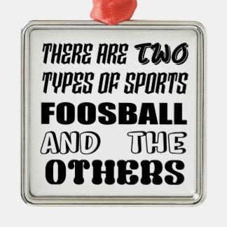 Ornamento De Metal Há dois tipos de esportes Foosball e outro