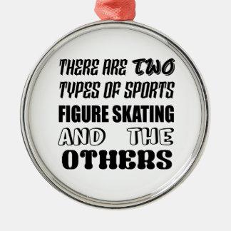Ornamento De Metal Há dois tipos de patinagem artística dos esportes