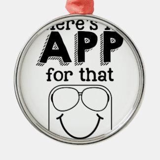 Ornamento De Metal Há um app para aquele