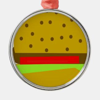 Ornamento De Metal Hamburguer do fast food da comida do Hamburger