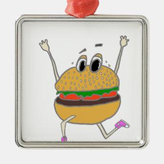Ornamento De Metal hamburguer running