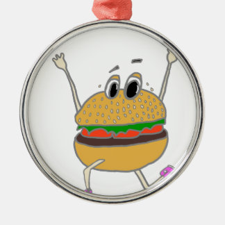Ornamento De Metal hamburguer running