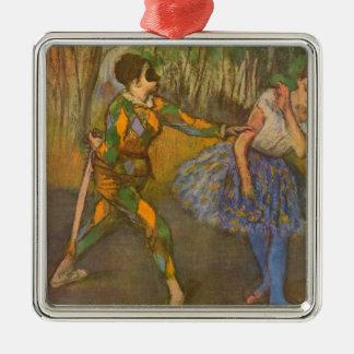 Ornamento De Metal Harlequin e aquilégia pela arte do vintage de