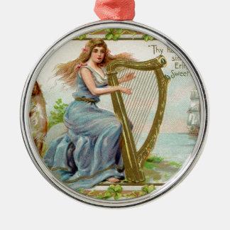 Ornamento De Metal Harpa & senhora originais do dia de patrick de
