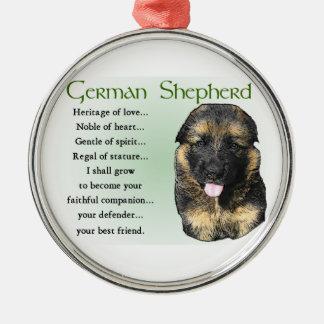 Ornamento De Metal Herança do german shepherd do amor