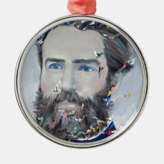Ornamento De Metal Herman Melville - retrato do óleo