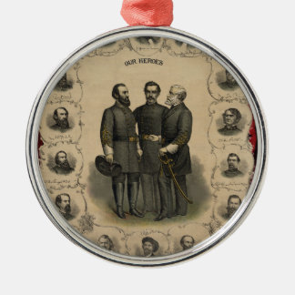Ornamento De Metal Heróis da guerra civil