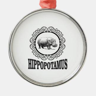 Ornamento De Metal Hipopótamo quadro