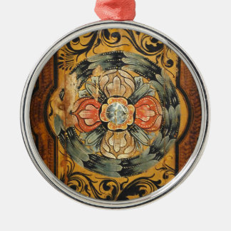Ornamento De Metal hist gótico velho do vintage de madeira medieval