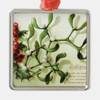 Ornamento De Metal Holly_Christmas_card_