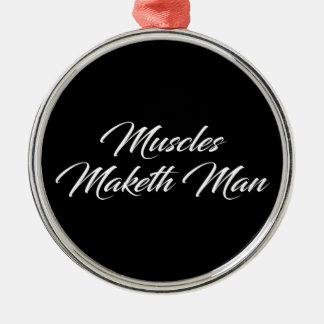 Ornamento De Metal Homem de Maketh dos músculos - exercício inspirado