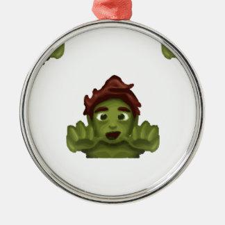 Ornamento De Metal homem do zombi do emoji