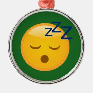 Ornamento De Metal Horas de dormir cansados Emoji