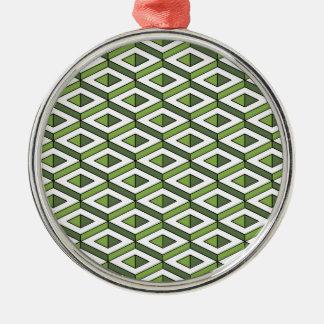Ornamento De Metal hortaliças e couve da geometria 3d