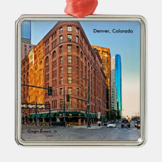 Ornamento De Metal Hotel majestoso no por do sol, Denver do palácio