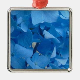 Ornamento De Metal Hydrangeas azuis
