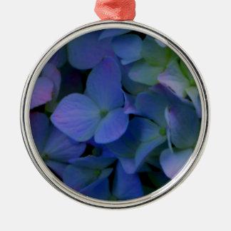 Ornamento De Metal Hydrangeas roxos violetas