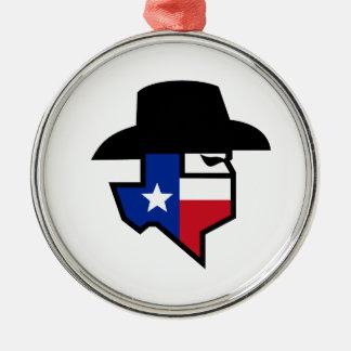 Ornamento De Metal Ícone da bandeira de Texas do bandido