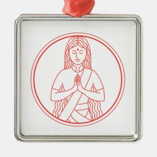 Ornamento De Metal Ícone de Namaste