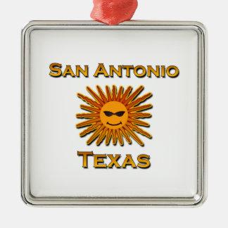 Ornamento De Metal Ícone de San Antonio Sun