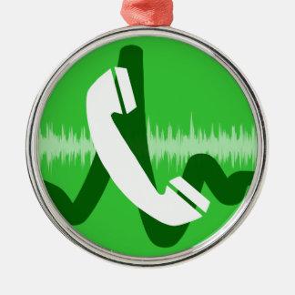 Ornamento De Metal Ícone do telefonema