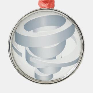 Ornamento De Metal Ícone do tornado 3d do furacão do ciclone do