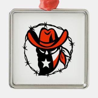 Ornamento De Metal Ícone foragido do fio de Barb da bandeira de Texas