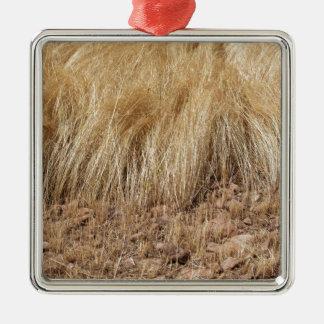 Ornamento De Metal iDetail de um campo do teff durante a colheita