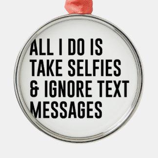 Ornamento De Metal Ignore textos