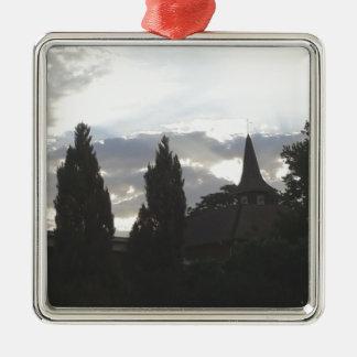 Ornamento De Metal Igreja do por do sol