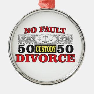 Ornamento De Metal igualdade 50 do divórcio 50 da no-falha