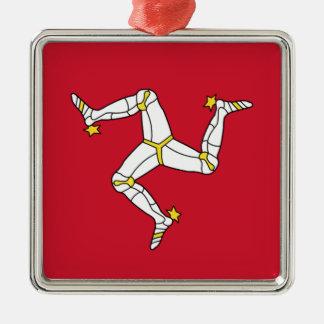 Ornamento De Metal Ilha da bandeira do homem - bandeira Manx -