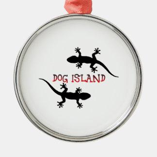 Ornamento De Metal Ilha Florida. do cão