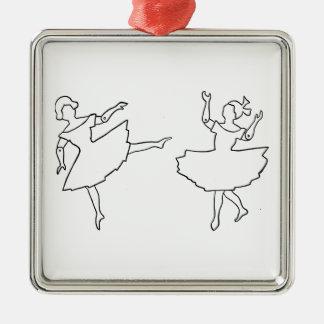 Ornamento De Metal Ilustração do entalhe dos dançarinos