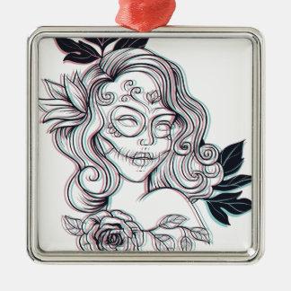 Ornamento De Metal ilustração do gráfico da menina