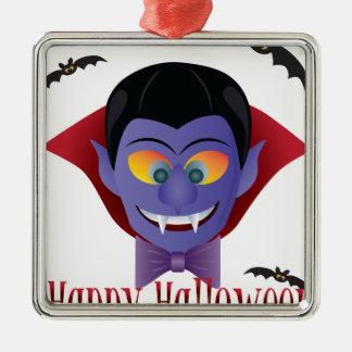Ornamento De Metal Ilustração feliz de Dracula da contagem do Dia das