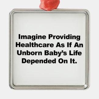 Ornamento De Metal Imagine fornecer cuidados médicos para bebês por
