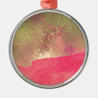 Ornamento De Metal Impressão abstrato da aguarela do Grunge